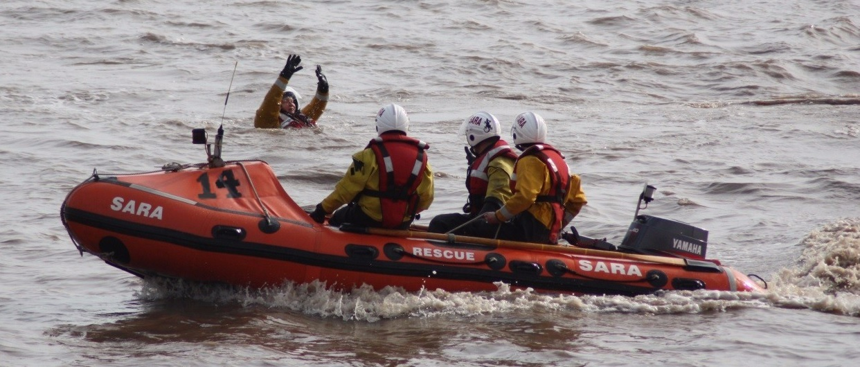 The D-Class lifeboat, called SARA-14, is a held at the Newport base along with ropes, stretchers and survival blankets.
